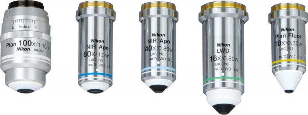 Nikon_FN1-IR-DIC_Objectives